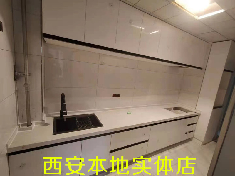 Xian stainless steel quartzite countertop integral cabinet custom made cabinet custom molding European modern simple