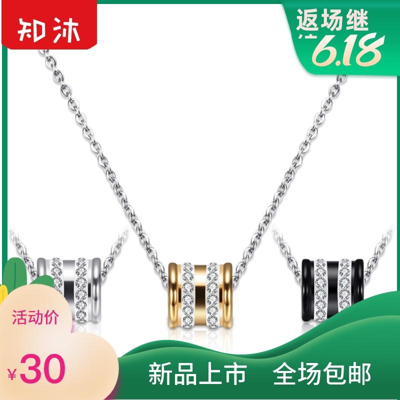 中國代購|中國批發-ibuy99|项链|韩版时尚镶钻项链女短款锁骨链钛钢不锈钢饰品配饰饰品