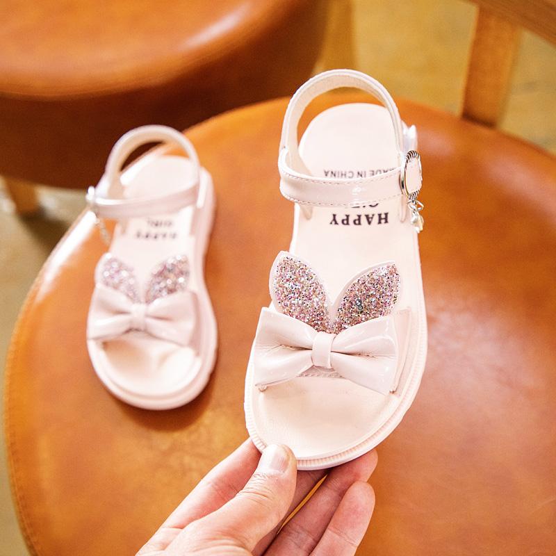 女童凉鞋2020夏季新款时尚小公主小童软底鞋子儿童中大童女孩童鞋