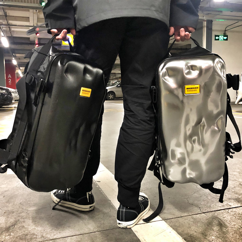 破烂箱潮网红旅行包男旅游背包短途手提运动包训练健身包女双肩包