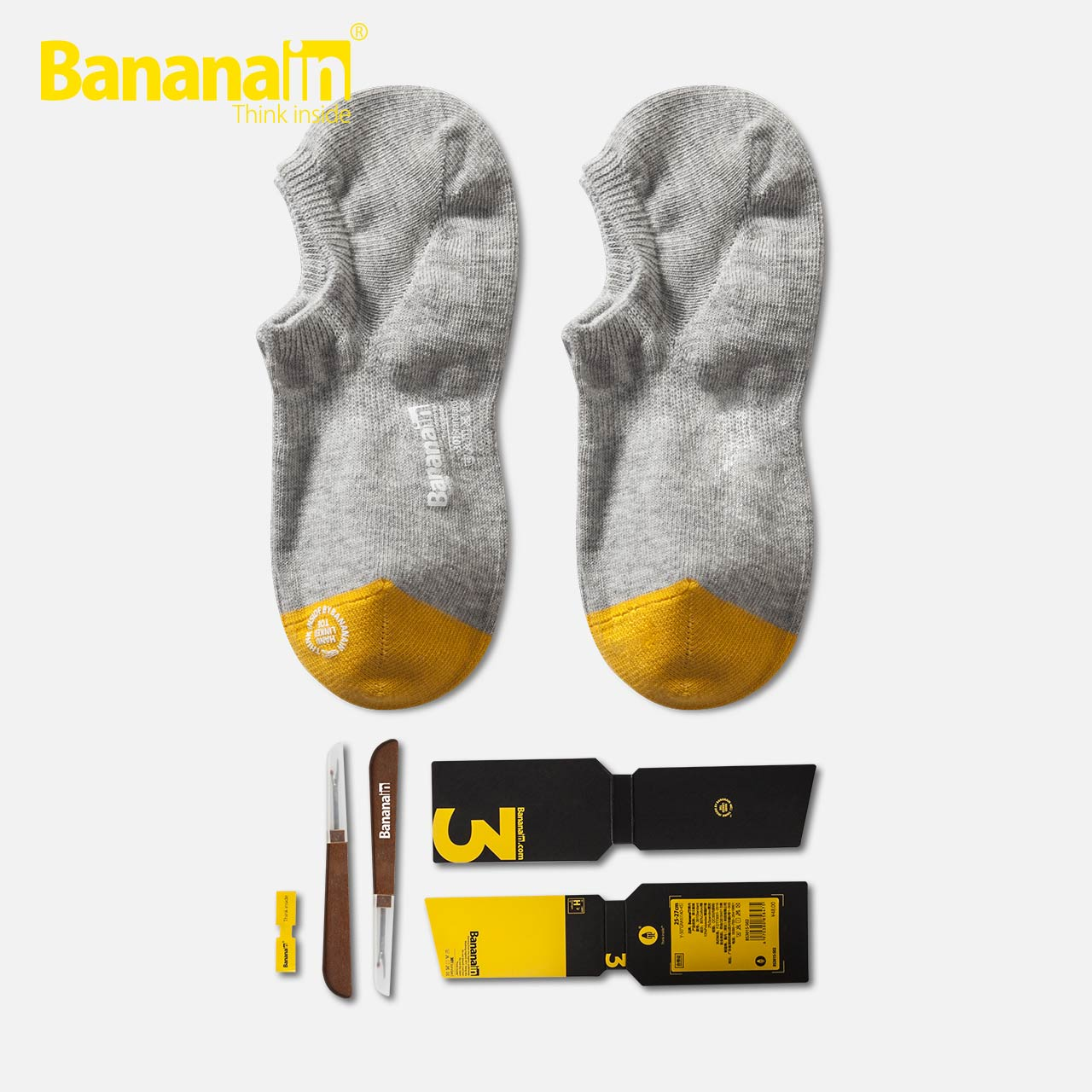 1双装bananain蕉内301s情侣浅口袜(非品牌)