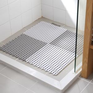 懒角落 浴室防滑垫 家用卫浴洗澡淋浴拼接方形防滑<span class=H>地垫</span>脚垫 64341