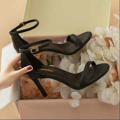 Summer new Korean one line buckle sandals sexy slim open toe womens shoes simple fashion versatile slim high heels
