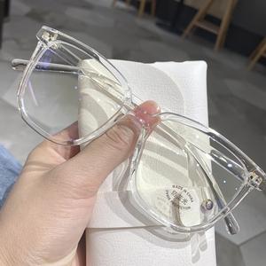 防蓝光抗辐射眼镜框女韩版潮近视可配度数网红眼睛护目平光镜男