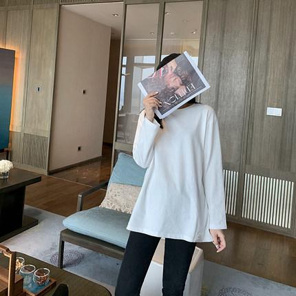 K姐自制【卫衣伴侣T】32支精梳棉时尚圆领套头长袖宽松T恤