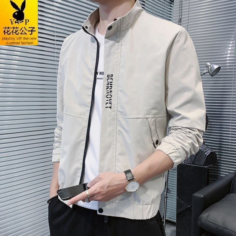Playboy VIP 2020 jacket mens spring and autumn new long sleeve handsome with Korean fashion casual coat