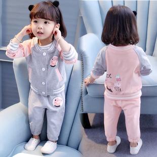 5岁小女孩秋季 长袖 两件套2021新款 女宝宝秋装 女童装 套装 纯棉