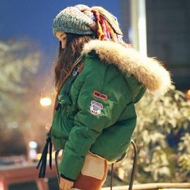 韩国东大门代购冬装女2020新款加厚真毛大毛领羽绒棉外套短款棉衣