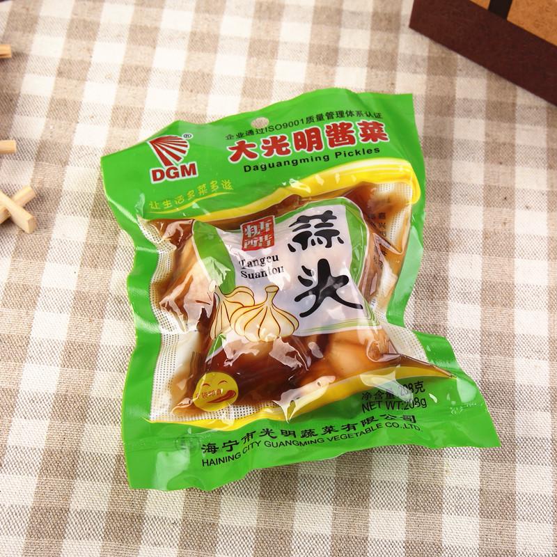 全国25省50元包邮-海宁208克大光明糖醋蒜头-本大蒜  泡土大蒜