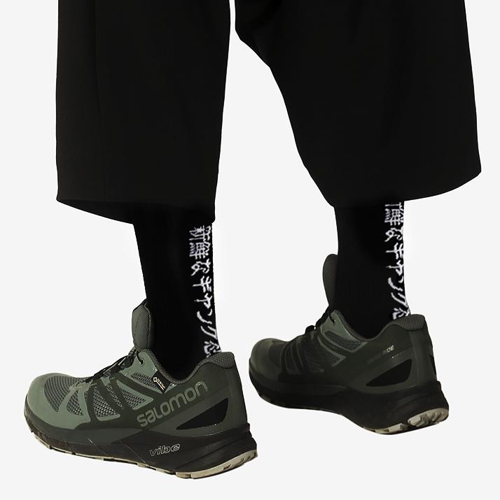 Japanese ninja letter Street cyberpunk cotton socks for men and women Yamamoto Yaosi wind function stockings