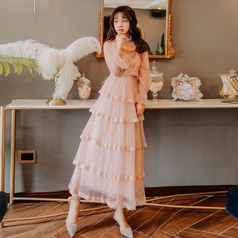 限20000张券维多利亚法式复古裙很仙的法国小众连衣裙两件套海边度假仙女裙夏