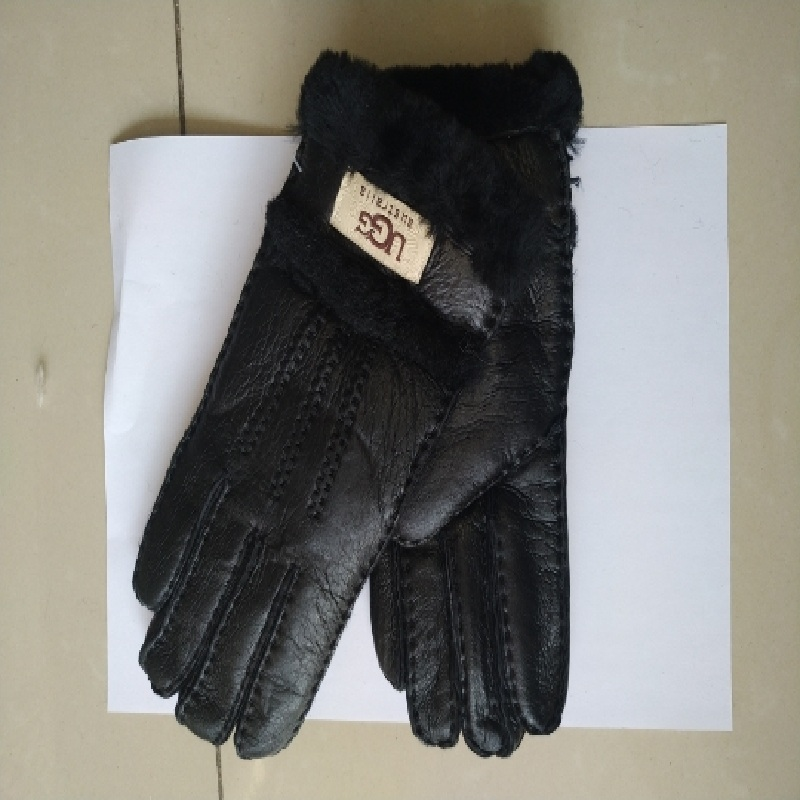 超柔舒适加厚皮毛一体男士整背3色可选真皮毛全指冬季保暖手套