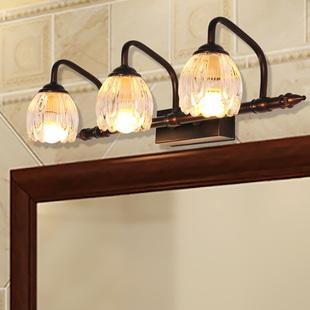 美式经典镜前灯LED 简约轻奢卫生间浴室镜柜灯 可免打孔化妆壁灯