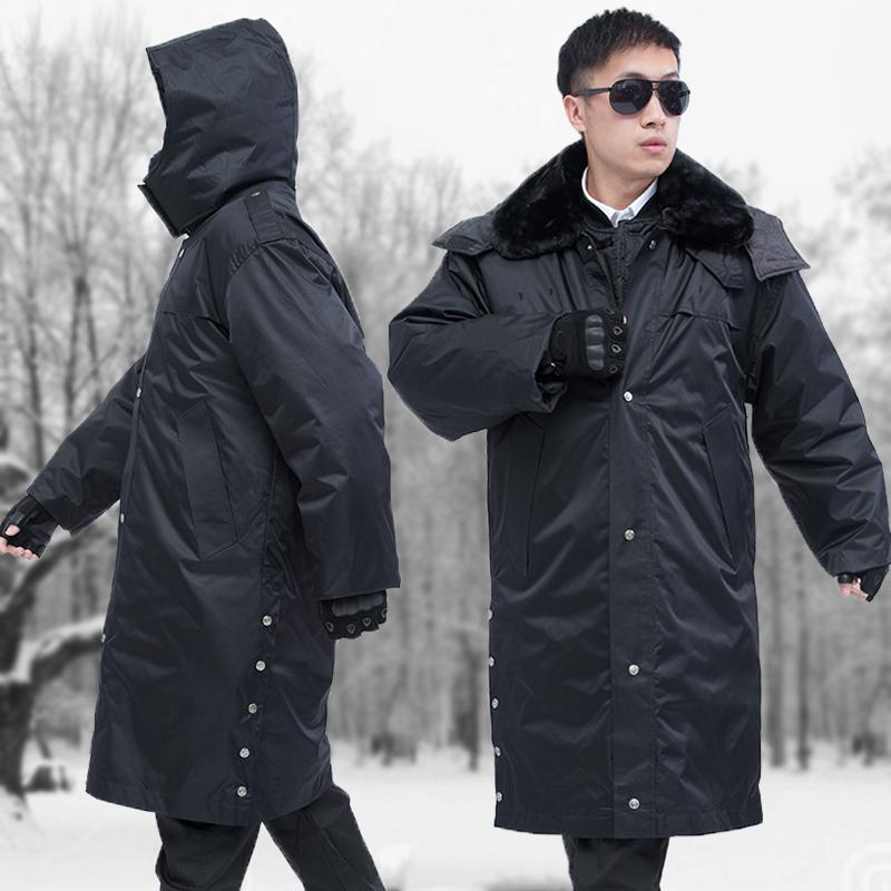 冬季长款军棉大衣男加厚多功能保安工作棉服防寒保暖劳保东北棉袄图片