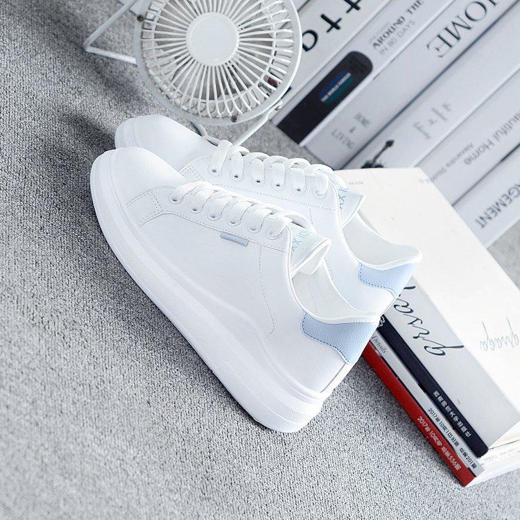 大东小白鞋女2020秋季新款韩版百搭平底板鞋休闲学生单鞋白鞋女