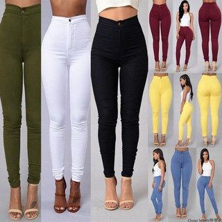 2018Fashion elastic jeans women leggings ladies jeans pants, цена 365 руб