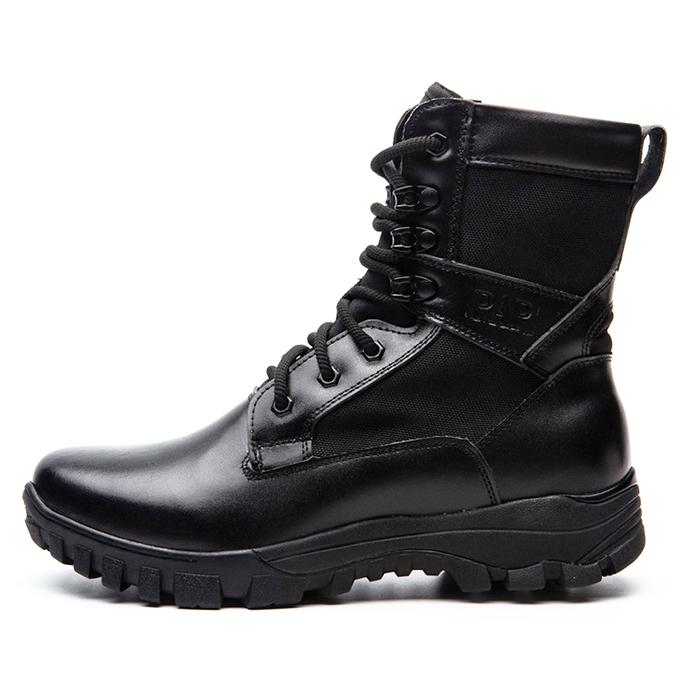 超轻作战靴pap春秋季男高帮透气战术靴黑色户外保安靴陆战靴