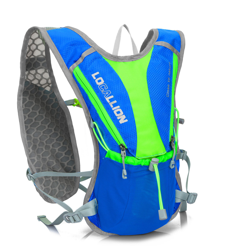 Professional running backpack water bag mens ultra light cycling double shoulder cross country running backpack womens marathon sports equipment