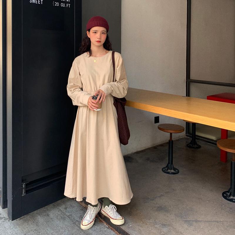 芝士兔自制19秋季韩版气质连衣裙75.00元包邮