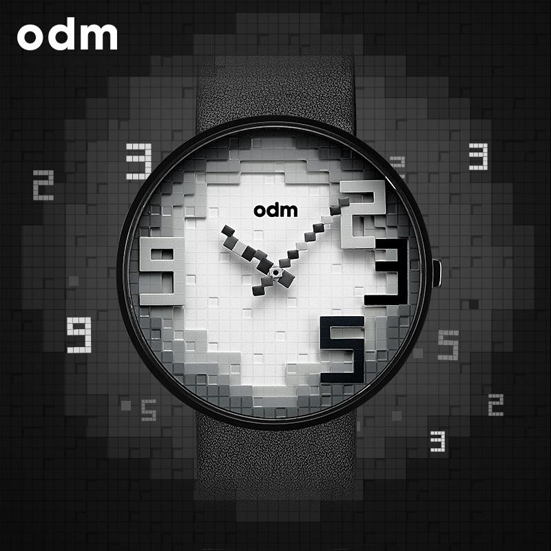 包邮odm欧迪姆石英机芯手表时尚防水中性学生指针式男腕表DD166