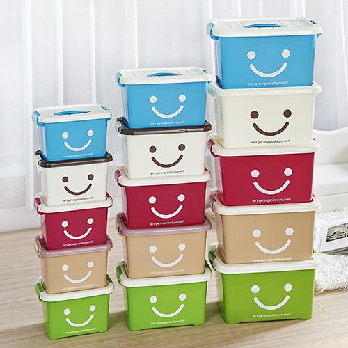 手提收納箱塑料加厚有蓋整理箱玩具收納盒特大中小號儲物箱整理盒