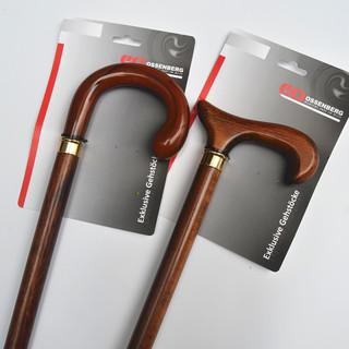 德国原装进口ossenberg实木手杖老人手杖红木拐棍助行防滑手杖