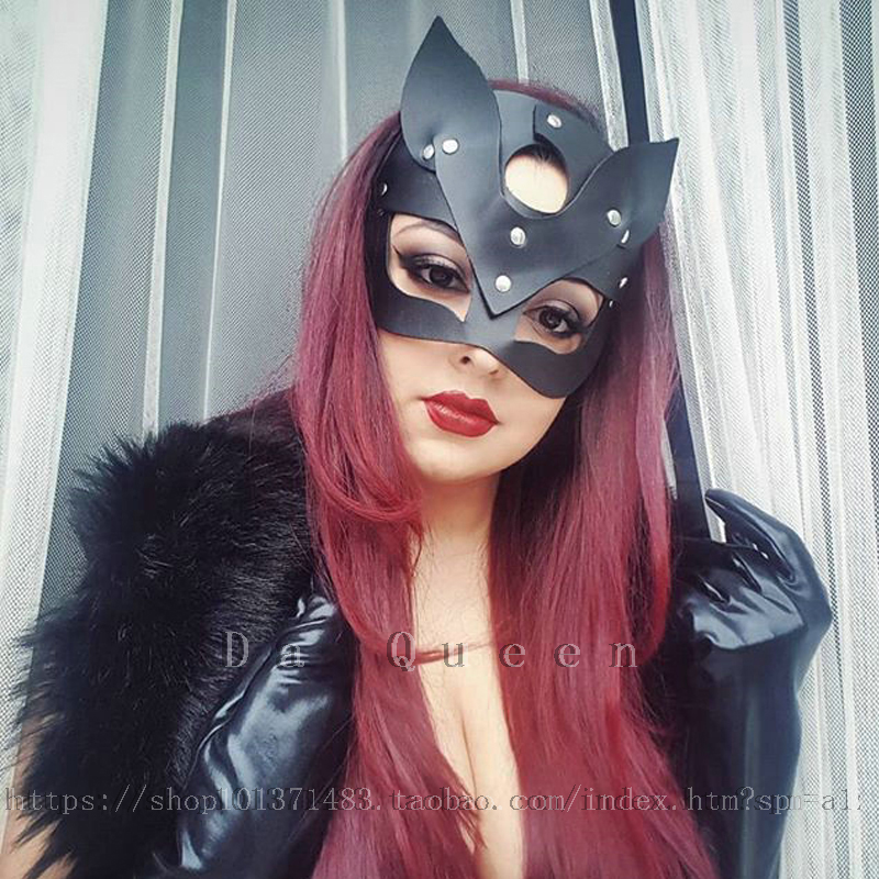Black Leather sexy cat mask female appeal half mask Cosplay anime role play props