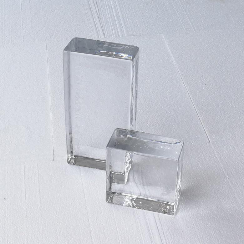 Совершенно новый супер белый через яркий твердый кристалл твердый стекло кирпич иностранных стена отрезать стена декоративный стена продаётся напрямую с завода