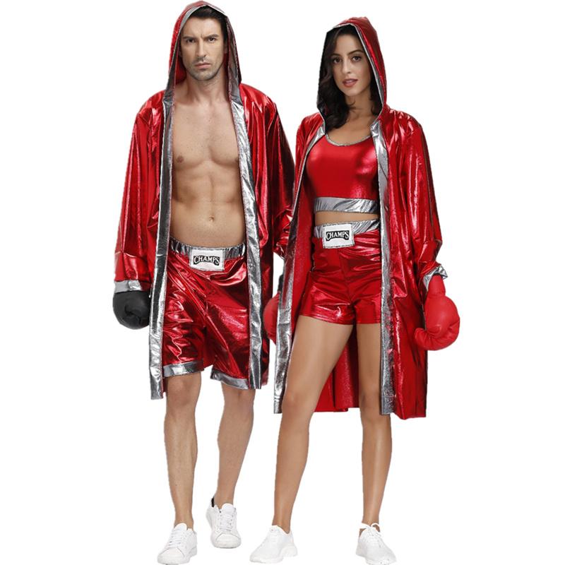 コスプレ欧米カップルボクシングハロウィンマントKOコスプレ男女格闘士PKショー衣装