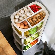 厨房置物架落地多层蔬菜筐收纳用品家用大全菜篮子放菜的神器架子