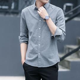 夏季衬衫男长袖韩版潮流帅气休闲百搭外穿短袖白衬衣男士外套寸衣图片