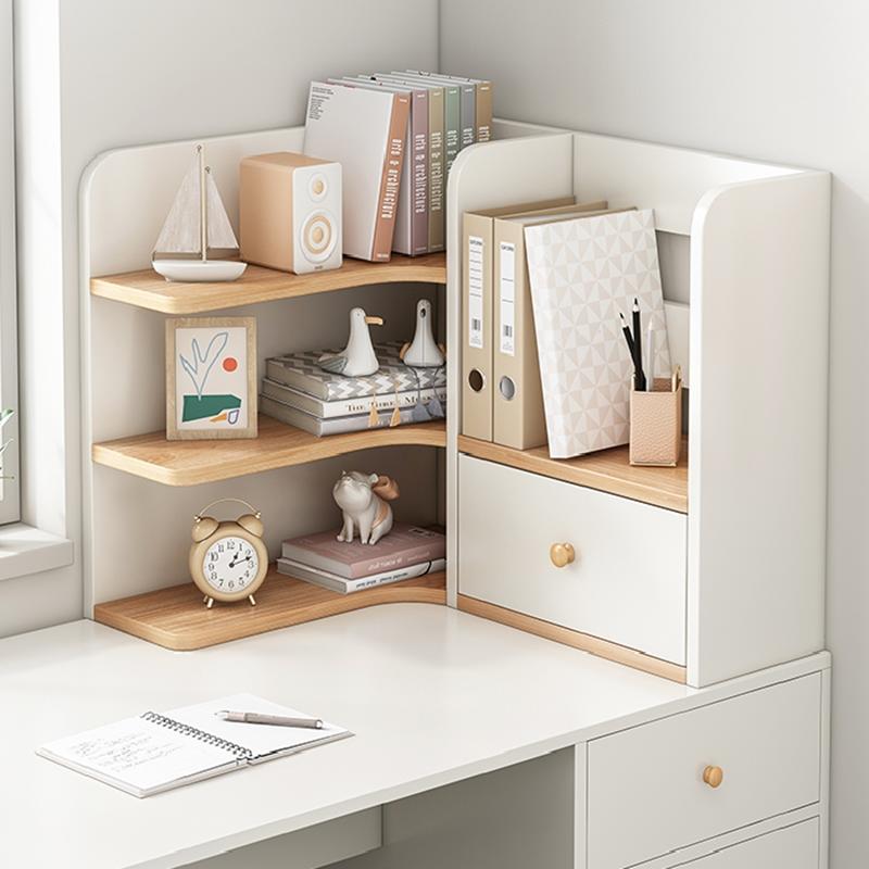 桌面书架简易办公室书桌上收纳架