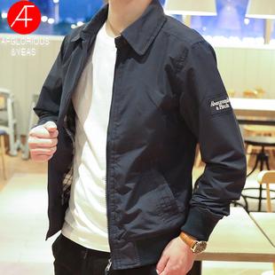 美國新款AF夾克男外套休閒春秋工裝立領拉鍊純色經典簡約防風外穿