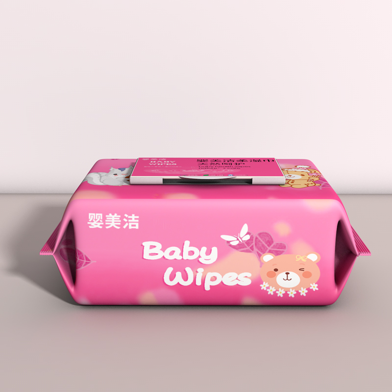 Babys wet wipes: 5 bags of babys, babys and newborns hand and mouth hygiene, no fragrance, wet paper with cover