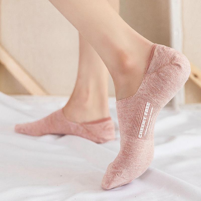 袜子夏天薄款女短袜浅口船袜ins潮防滑不掉跟隐形袜套纯棉春夏季