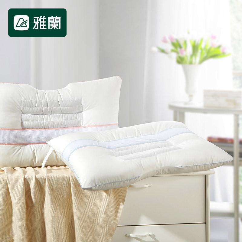 雅兰家纺决明子枕头枕芯一对装整头枕头成人护颈枕单人学生助眠枕