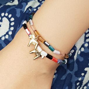 Summer versatile colorful beaded bracelet for young girl xiaoqingxin Mori student Bracelet Korean handkerchief net red Bracelet