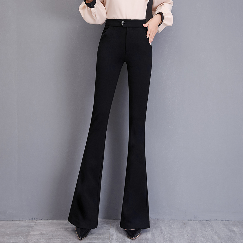 Womens new versatile high waisted trousers in spring and summer 2021
