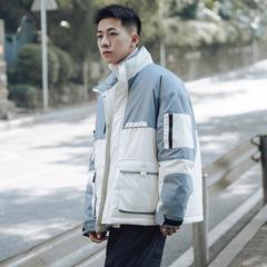 拼接撞色多口袋棉衣男冬季 A360-W620-P150 控价198(100%涤)