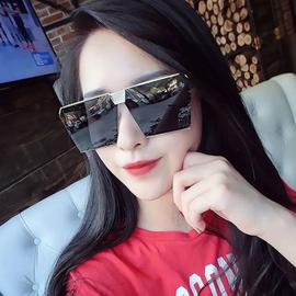 街拍网红2018太阳镜女潮明星款大框方形墨镜复古男士偏光开车眼镜图片