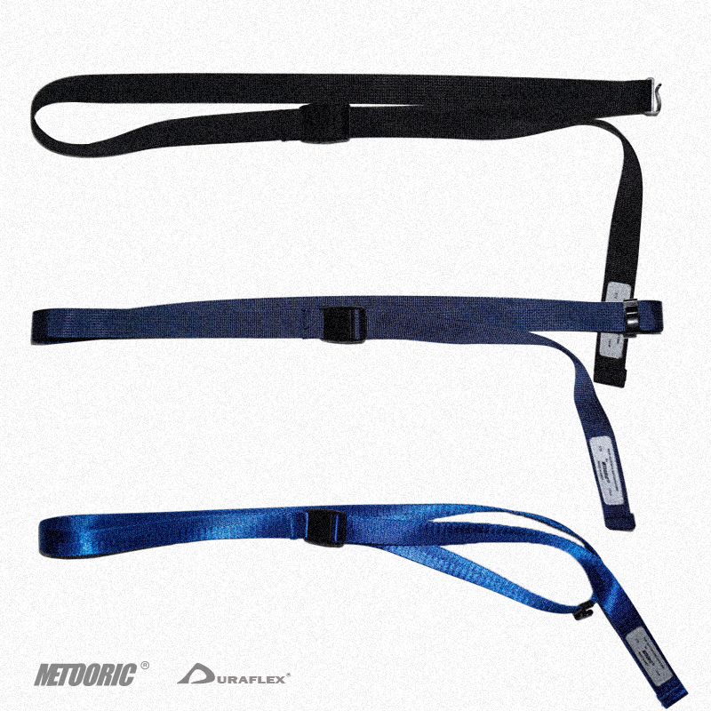 Metooric tactical press type belt webbing adjustable multi nefo buckle in royal blue black blue canvas