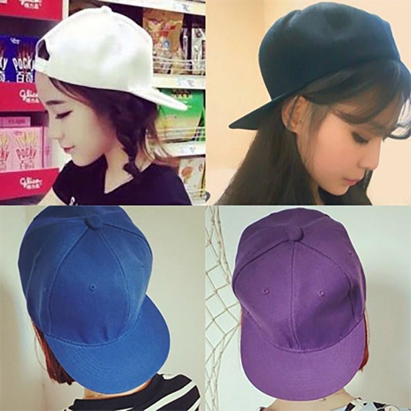 帽子韩版潮款男女情侣纯色棒球帽夏天遮阳鸭舌平沿街舞帽户外