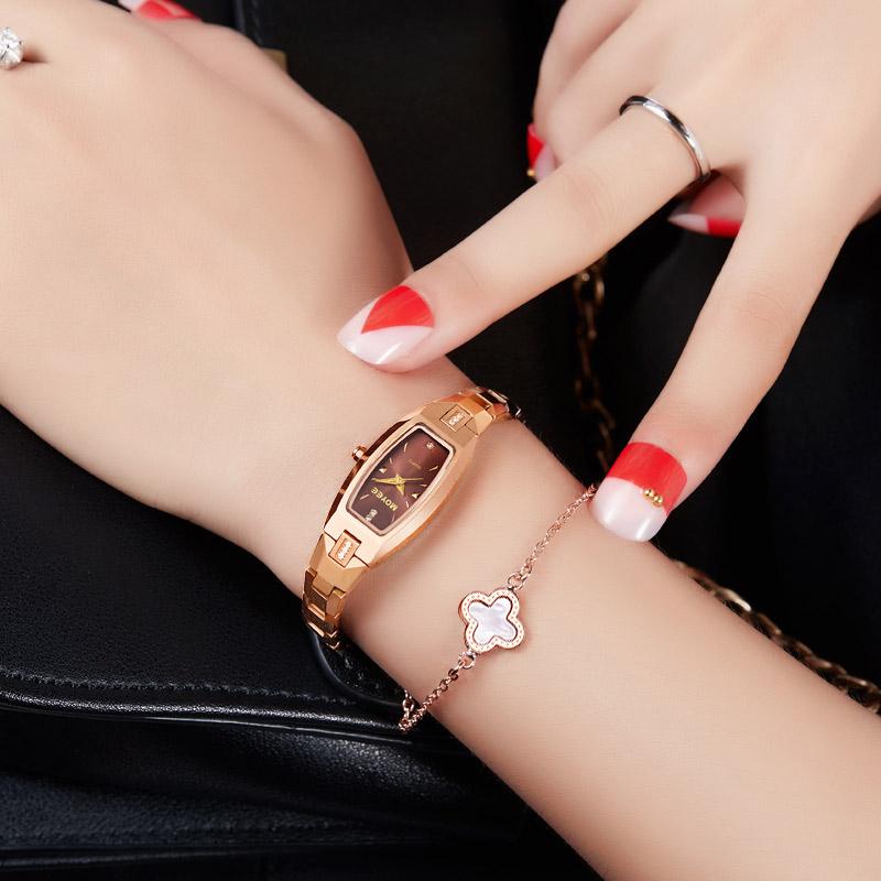 手表女�C械表女士�r尚潮流防水正品方形�u�女式手�表女新款瑞士