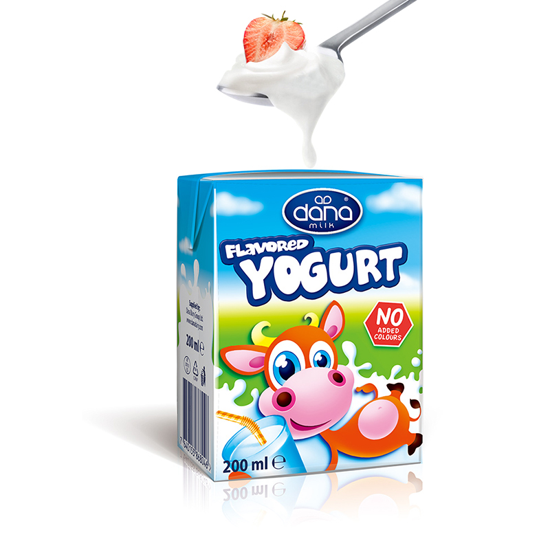 Austrian original imported normal temperature plain yogurt 200ml * 12 boxes of childrens sour milk