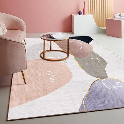 客厅地毯卧室少女ins风床边网红大面积全铺房间北欧轻奢茶几地垫
