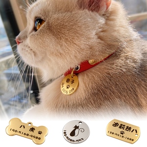 身份姓名牌定制猫咪双面项圈狗狗牌