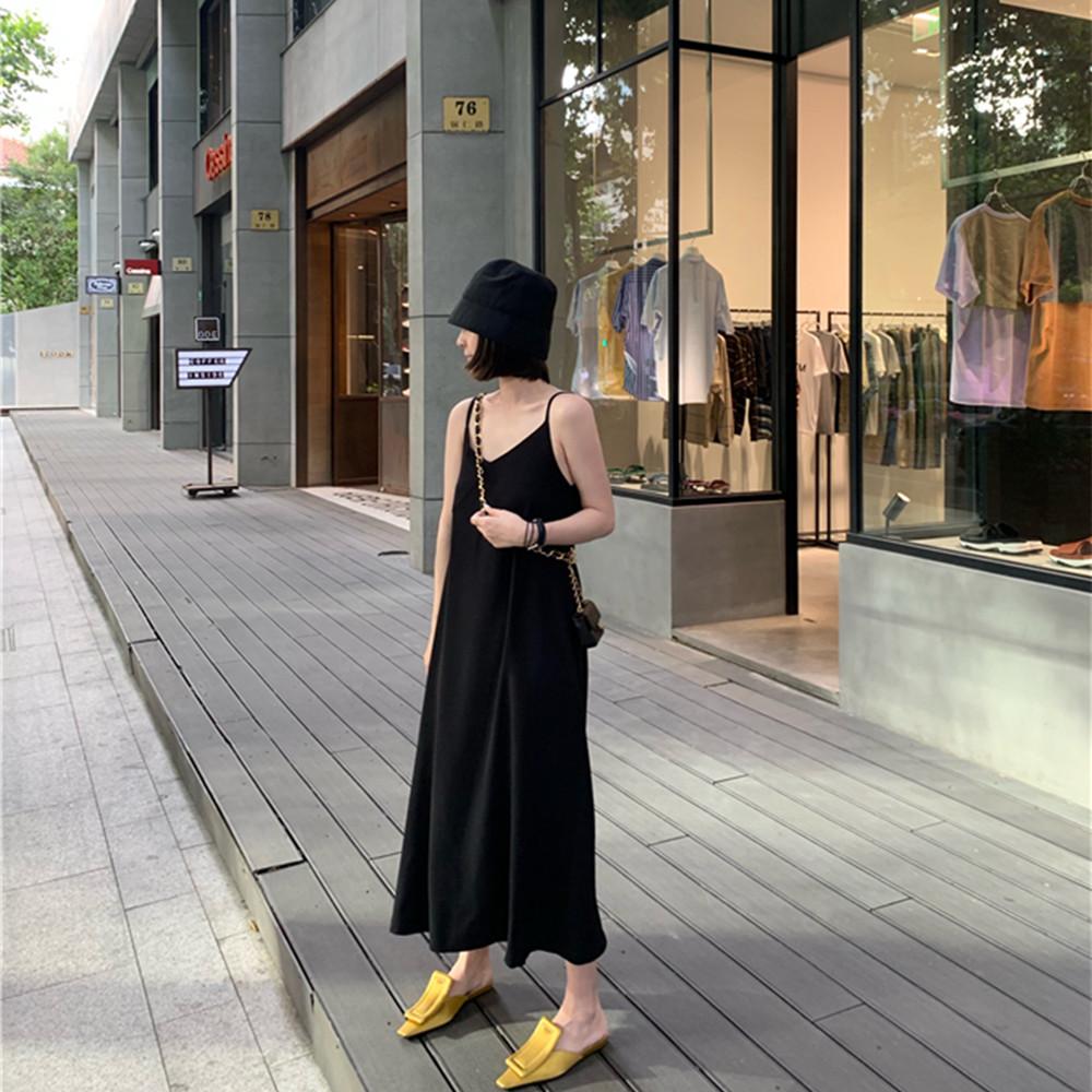 12月01日最新优惠mkd /黑色夏纯色宽松显瘦高吊带裙