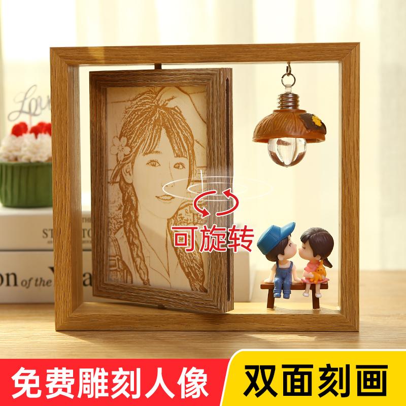 幼儿园毕业生日礼物木刻画照片定制闺蜜送女生男生男朋友儿童女孩