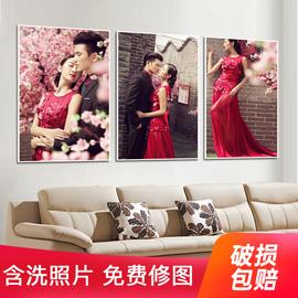 16-48寸拉米娜版画水晶相框婚纱照挂墙放大照片定制相片摆台制作图片