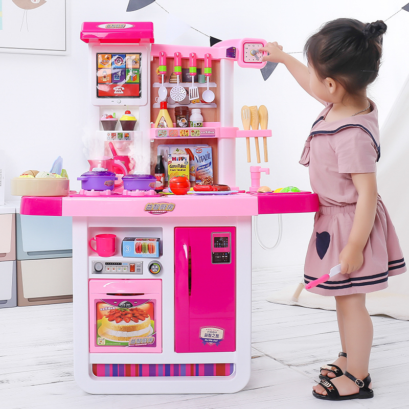 Children's kitchen toy set cooking cooking girl girl child family baby 3-6 years old 7th birthday present